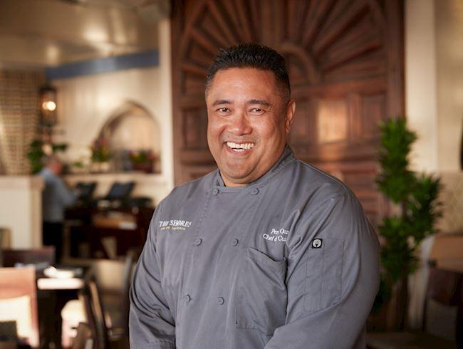 Chef de Cuisine Percy Oani in The Shores Restaurant, California