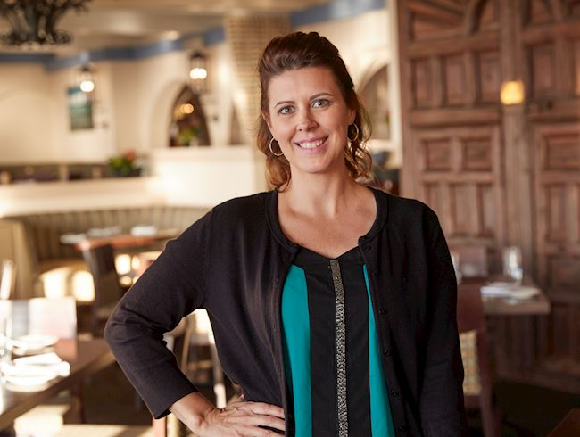 Restaurant Manager Jennifer Bresnan at The Shores Restaurant, California